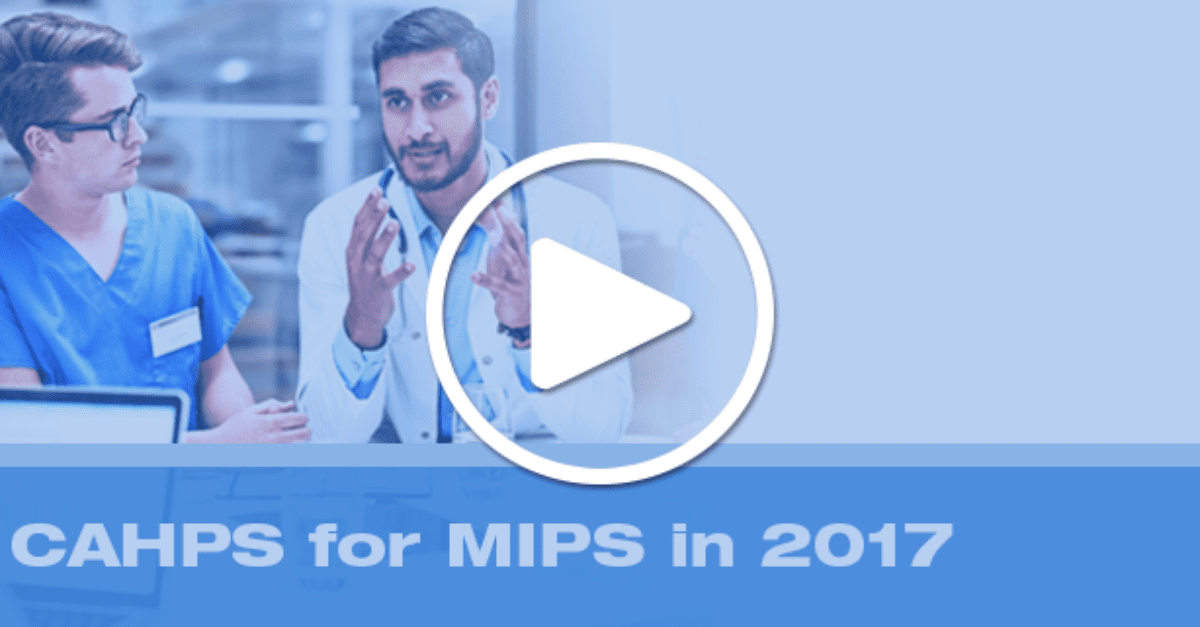 Webinar graphic for CAHPS for MIPS
