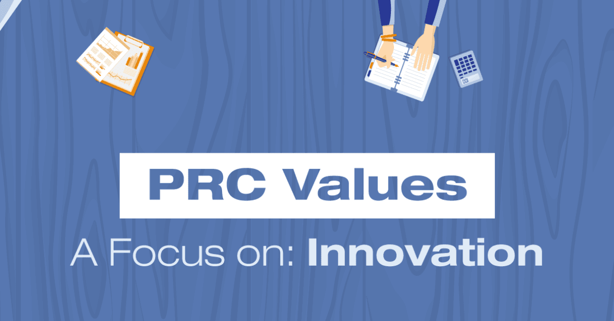 PRC Values banner for Healthcare Innovation